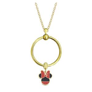 Nouvelle chaîne de collier de cercle d'or en acier inoxydable 45CM
