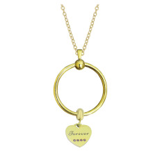 New stainless steel Gold circle necklace set chain 45CM