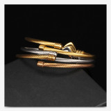 Stainless Steel Wire Bracelet Heart shaped bead bracelet