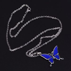 Butterfly temperature sensitive Stainless Steel Necklace