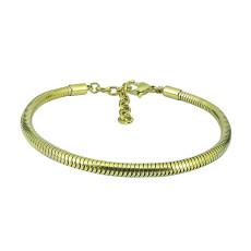 17cm-20cm Charm Bracelet oro Pulseras extensibles de acero inoxidable