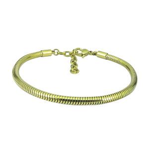 Bracelet à breloques 17cm-20cm Bracelets extensibles en acier inoxydable doré