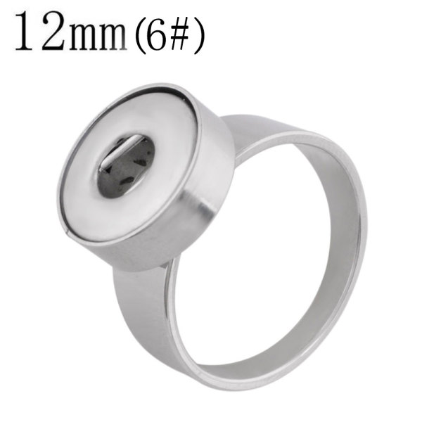 6# Fit 12mm Snaps Stainless steel Rings fit snaps chunks
