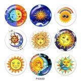 20MM Sun Print Glas-Druckknöpfe