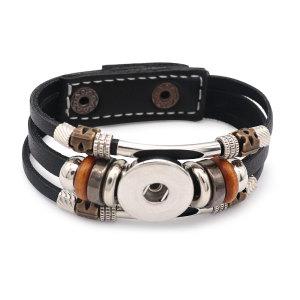 20CM 1 boutons en cuir nouveau type Bracelet fit 20mm boutons pression