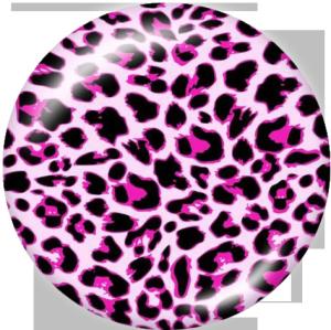 Стеклянные кнопки с леопардовым принтом 20 мм