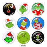 20MMクリスマス漫画のガラススナップボタン