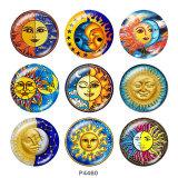 20MM Sun Print glass snaps buttons
