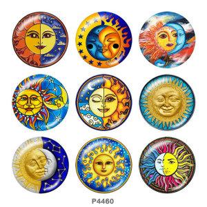 Стеклянные кнопки с принтом Sun Print 20 мм