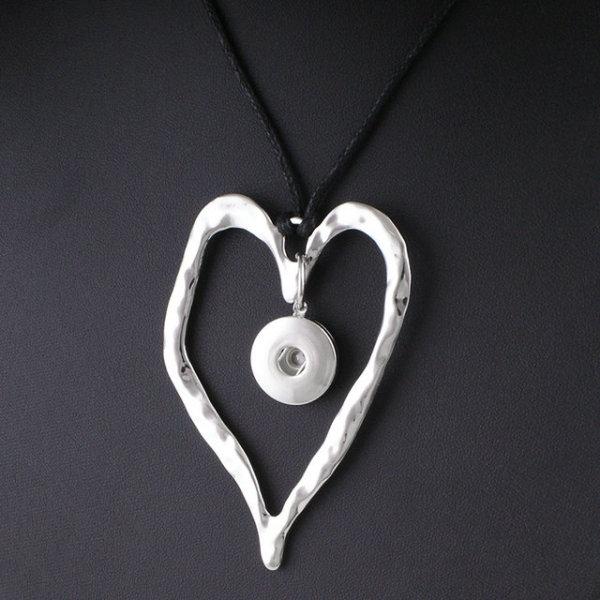 Halskette Silber Verstellbare Lederseil Passform 20MM Brocken schnappt Schmuck