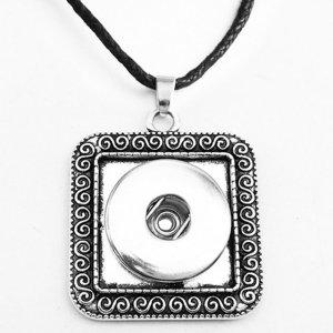 Collier argent Corde en cuir ajustable ajustable en morceaux de 20MM