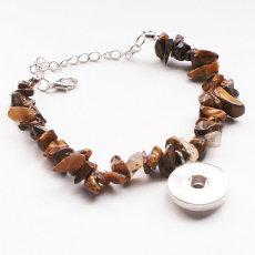 1 boutons avec bouton pression Bracelet en pierre naturelle fit boutons pression bijoux