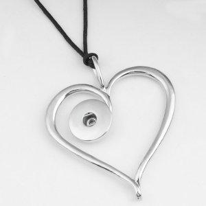 Collar plateado Cuerda de cuero ajustable en forma de trozos de 20 mm Broches de joyería