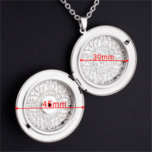 Stainless steel Necklace silver  fit 20MM chunks snaps jewelry