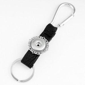 Pu leater mode porte-clés 1 boutons fit boutons pression morceau Snaps bijoux