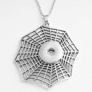 Collier croix papillon fleur d'Halloween en argent chaîne de 60 cm pour des morceaux de 20 MM s'enclenche des bijoux