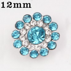 12MM Design Metall versilbert Snap Charms Multicolor