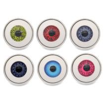 Los encantos a presión chapados en plata del metal del globo ocular de 20MM encajan la joyería