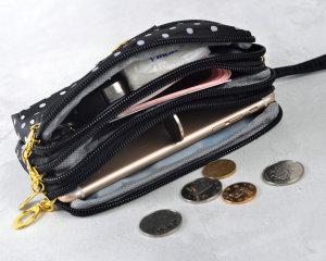 小銭入れをスナップ収納バッグクラッチバッグは18mmのチャンクにフィット