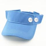Chapeau de soleil d'été Bonnet de tennis Protection solaire fit bouton pression 18 mm beige