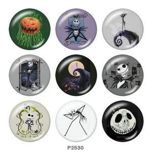 20MM Halloween Print Glas Druckknöpfe