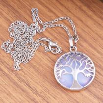 Collier en pierre naturelle Life Tree avec chaîne
