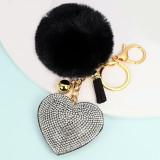 Love hair ball key chain pendant women's bag accessories pendant Valentine's Day