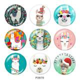 20MM Alpaca Print glass snaps buttons