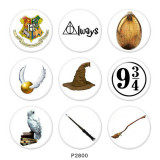 20MM Harry Potter Print glass snaps buttons