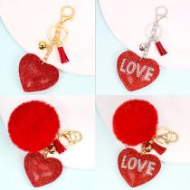 Amour boule de cheveux porte-clés pendentif sac femme accessoires pendentif Saint Valentin