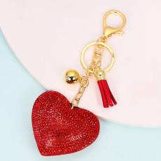 Love hair ball llavero colgante bolso de mujer accesorios colgante día de San Valentín