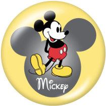 20MMミッキープリントガラススナップボタン