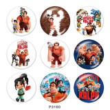 20MM Print glass snaps buttons