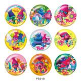 20MM trolls Print glass snaps buttons