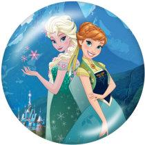 Botones a presión de cristal con estampado de princesas Disney de 20 mm
