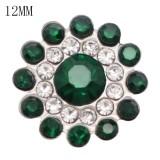 12MM Design Metall versilbert Snap Charms Multicolor