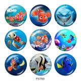 20MM Findet Nemo Print Glasschnappknöpfe