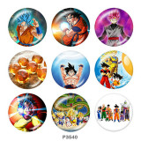 20MM Dragon Ball Print Glasschnappknöpfe