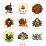 20MM感謝祭のプリントガラススナップボタン
