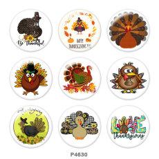 20MM Thanksgiving Print Glasknöpfe