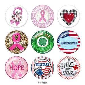 Стеклянные кнопки с кнопками с изображением надежды 20 мм
