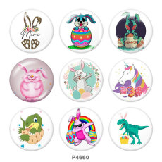 20MM Easter Print glass snaps buttons