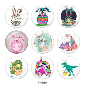Стеклянные кнопки с изображением Пасхи, 20 мм