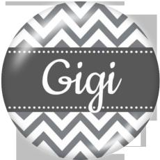 20MM GIGIMOMファミリープリントガラススナップボタン