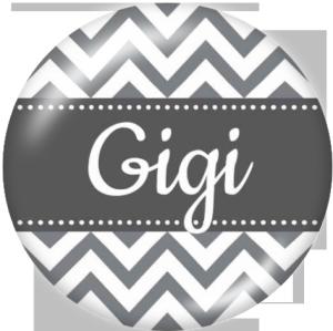 Botones a presión de vidrio con estampado de la familia GIGI MOM de 20MM