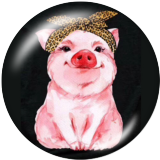 20MM pig  Print glass snaps buttons