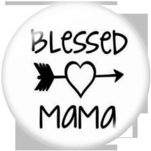 Botones a presión de vidrio con estampado de la familia MAMA MOM TEACH de 20MM