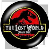 Boutons-pression en verre imprimé Jurassic Park 20 MM