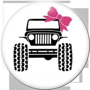 Botones a presión de vidrio Jeep Print de 20 mm para automóvil