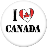 20MM Canada Print glass snaps buttons